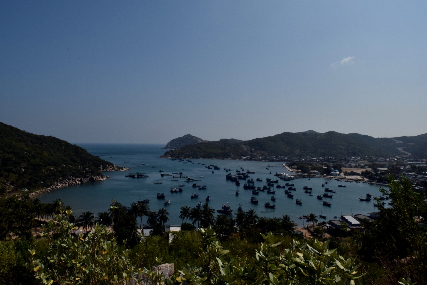 Overlook of a fishing village somewhere between Mui Ne and Nha Trang