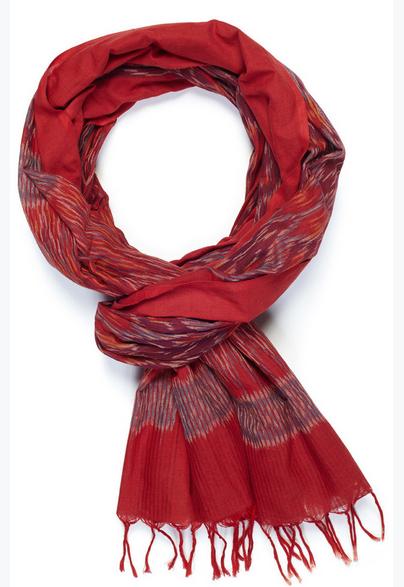 Indigo Handloom diamondback scarf.
