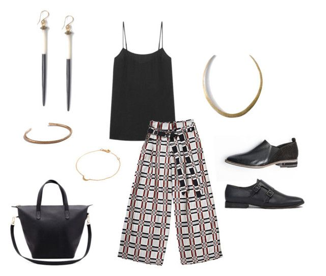 A perfect work outfit with pants by  Ace&Jig , camisole by  Everlane , shoes by  Freda Salvador  &  Coclico , bag by  Cuyana , necklace & earrings by  Soko , bracelets by  J. Hannah  &  Another Feather .