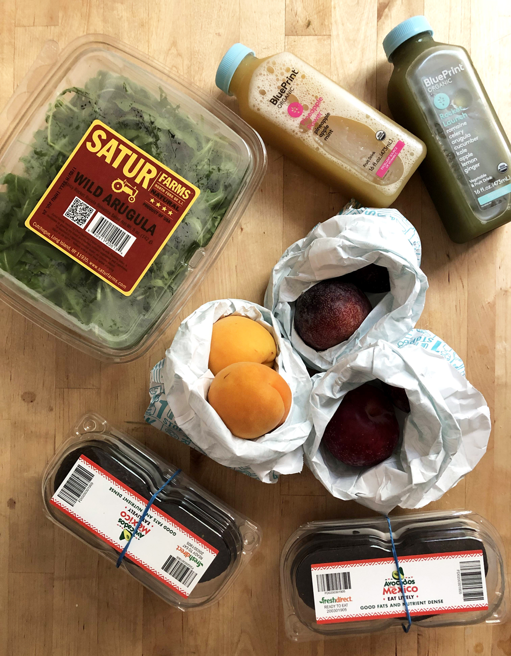 A plastic filled grocery haul. I was pleased to see that  Foodkick  has switched from plastic bags to paper for packing fruits, but everything else still needs work. I have written to Foodkick multiple times to ask them to minimize their plastic packaging.