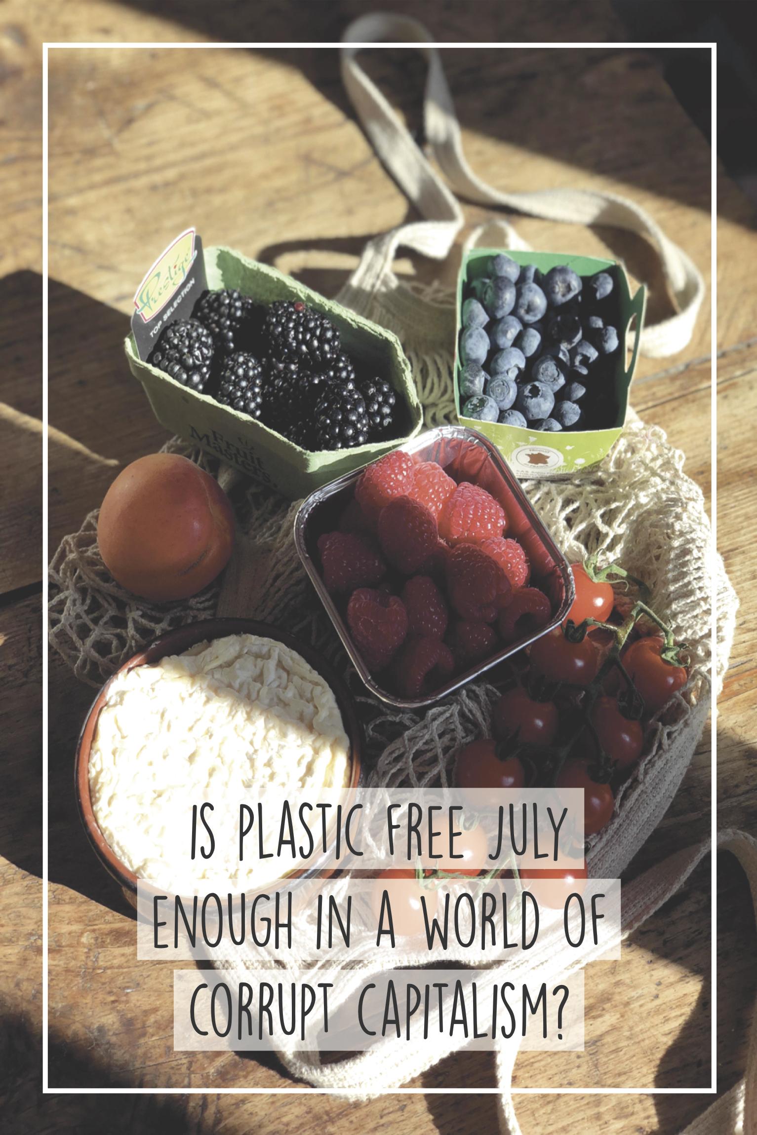 Plastic Free July, zero waste sustainable living