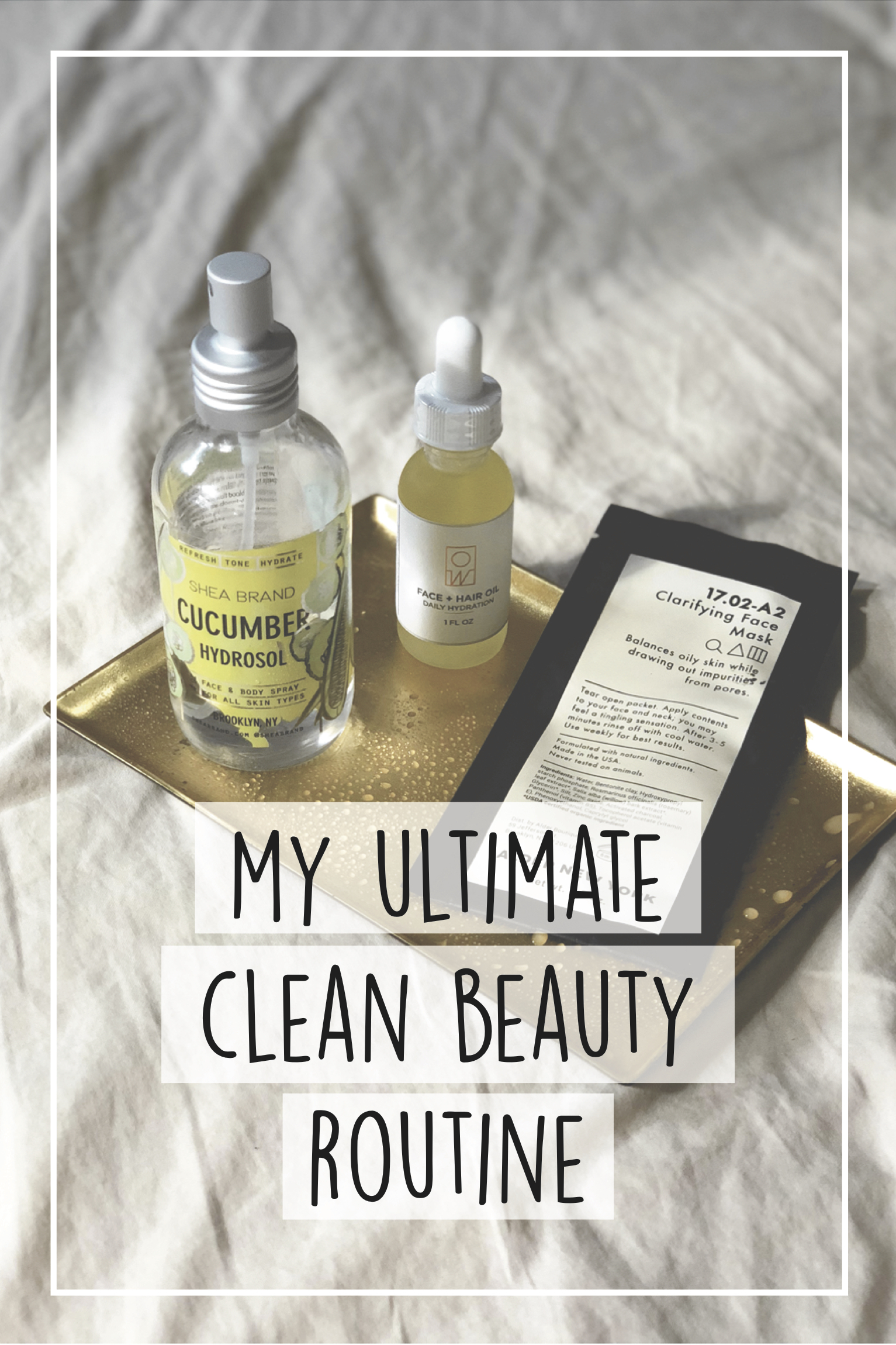 Clean beauty, natural skincare, organic, eco friendly beauty products