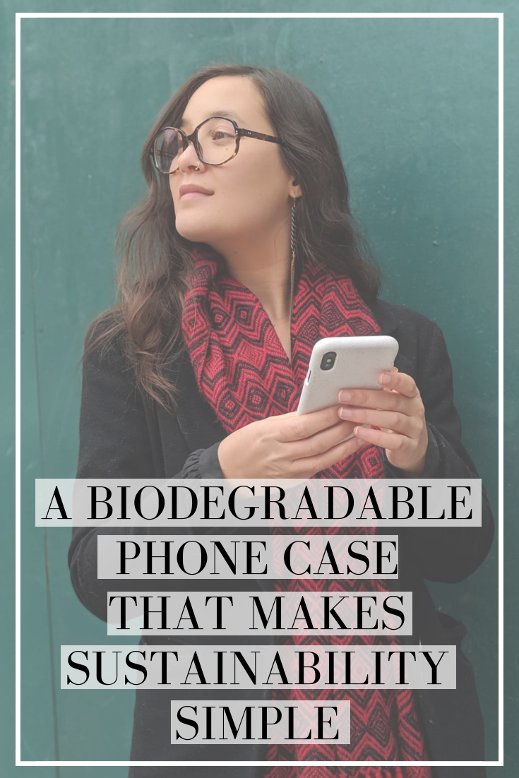 A biodegradable eco-friendly phone case that makes sustainability simple