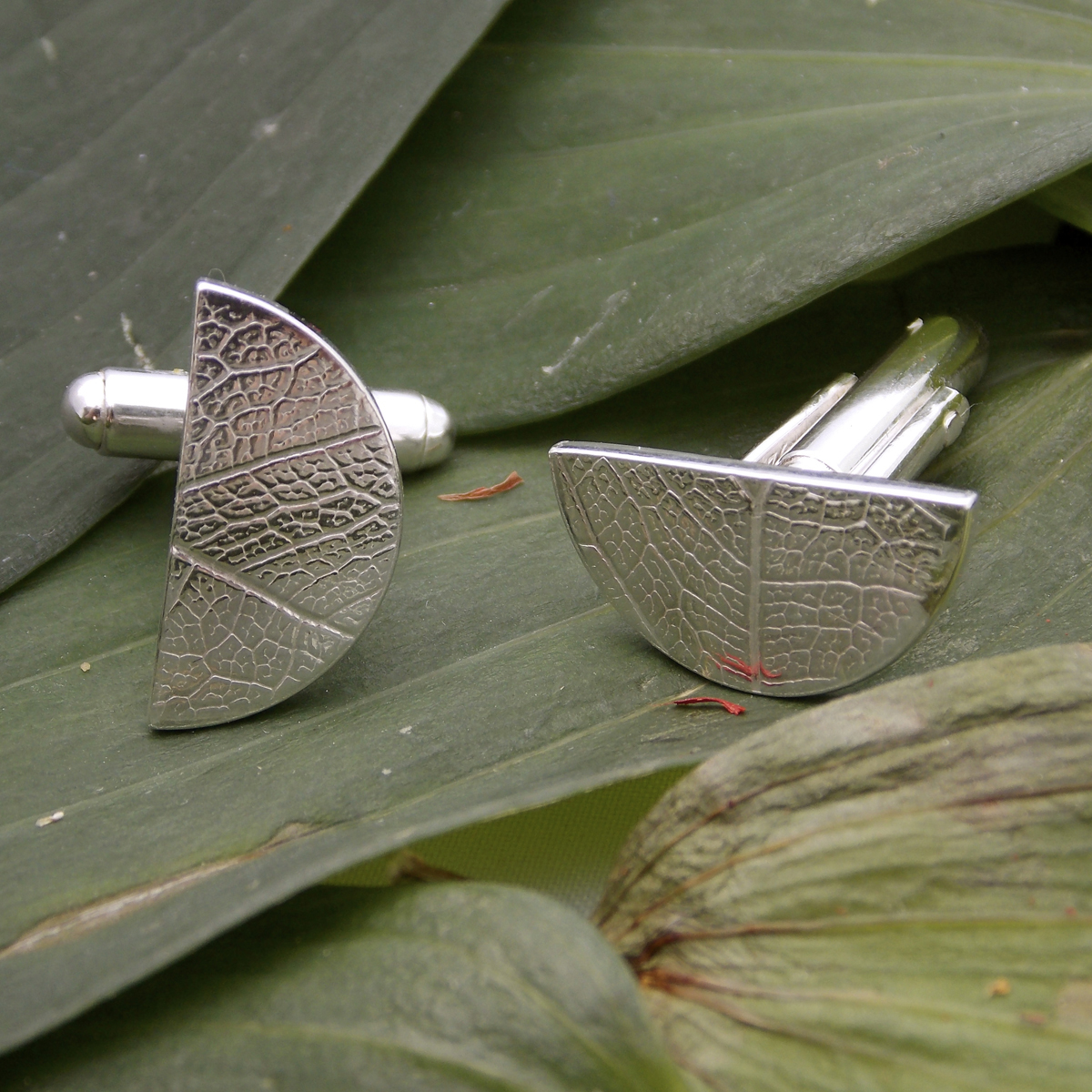Semi circle leaf cufflinks2.jpg