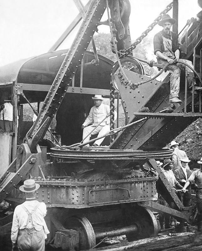 President Roosevelt on the Bucyrus Shovel