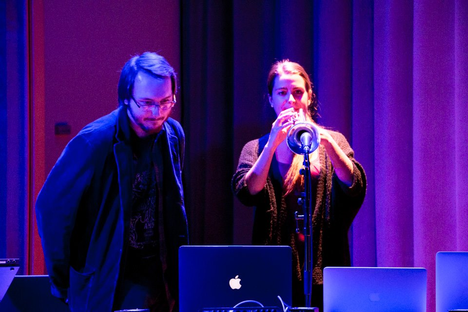 trumpet + ChucK with Justin Scheid, 12/14