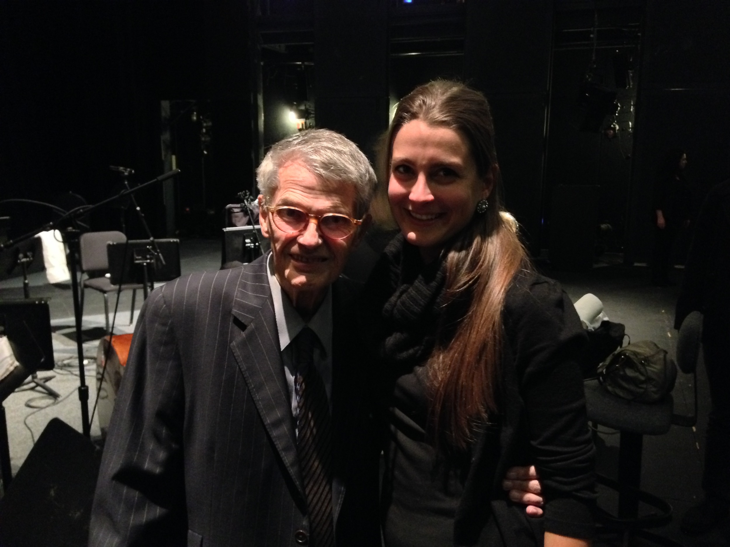 with Charlie Haden after Liberation Music Orchestra, REDCAT, 12/13