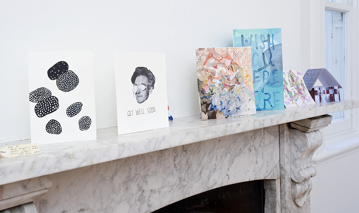 greeting cards - install view