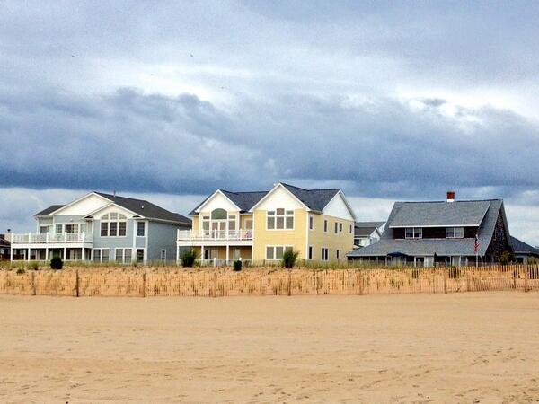 Houses along Dewey Beach