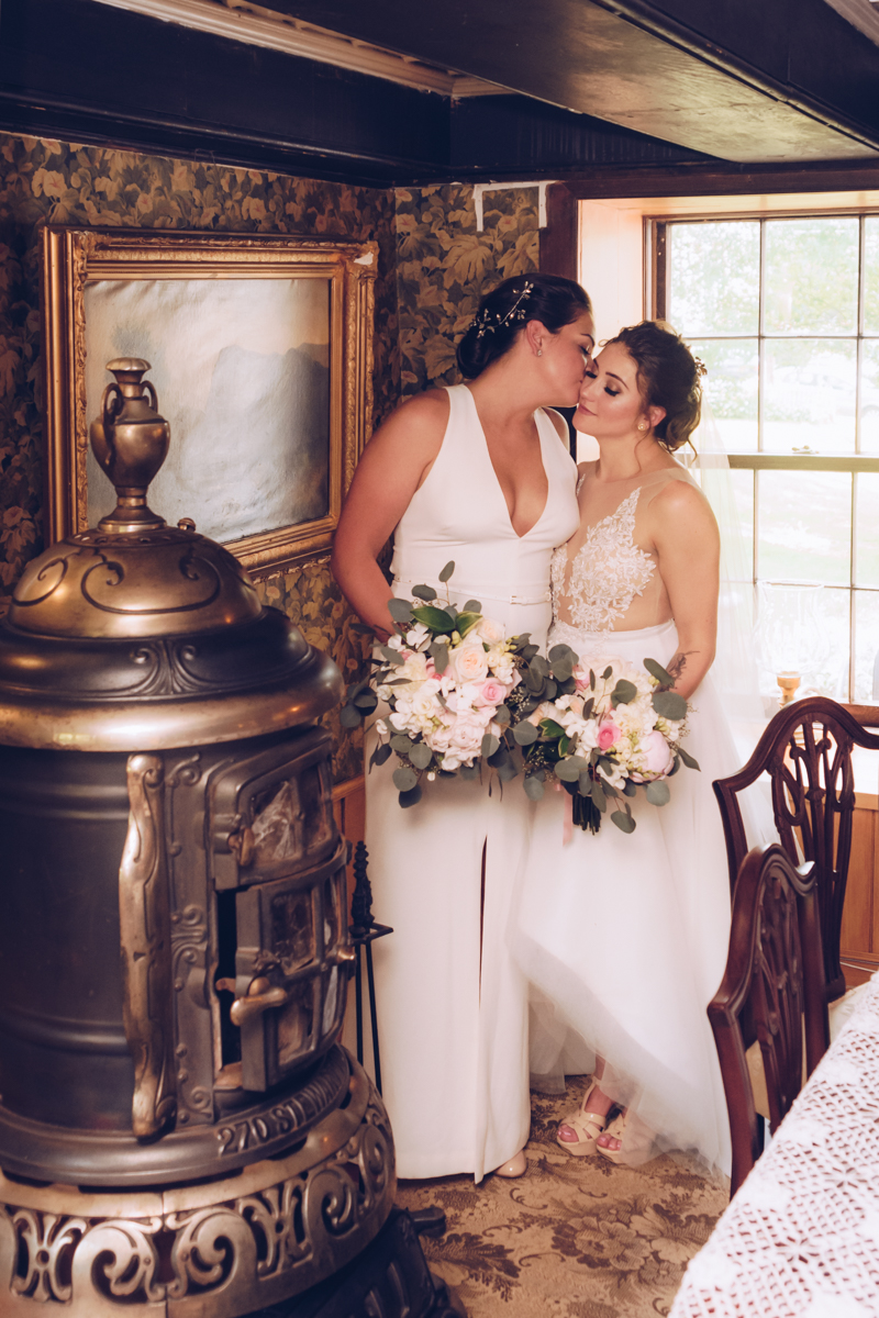 Casie & Elyse Beautiful & Romantic wedding at Alice Austen House by Unveiled Weddings.