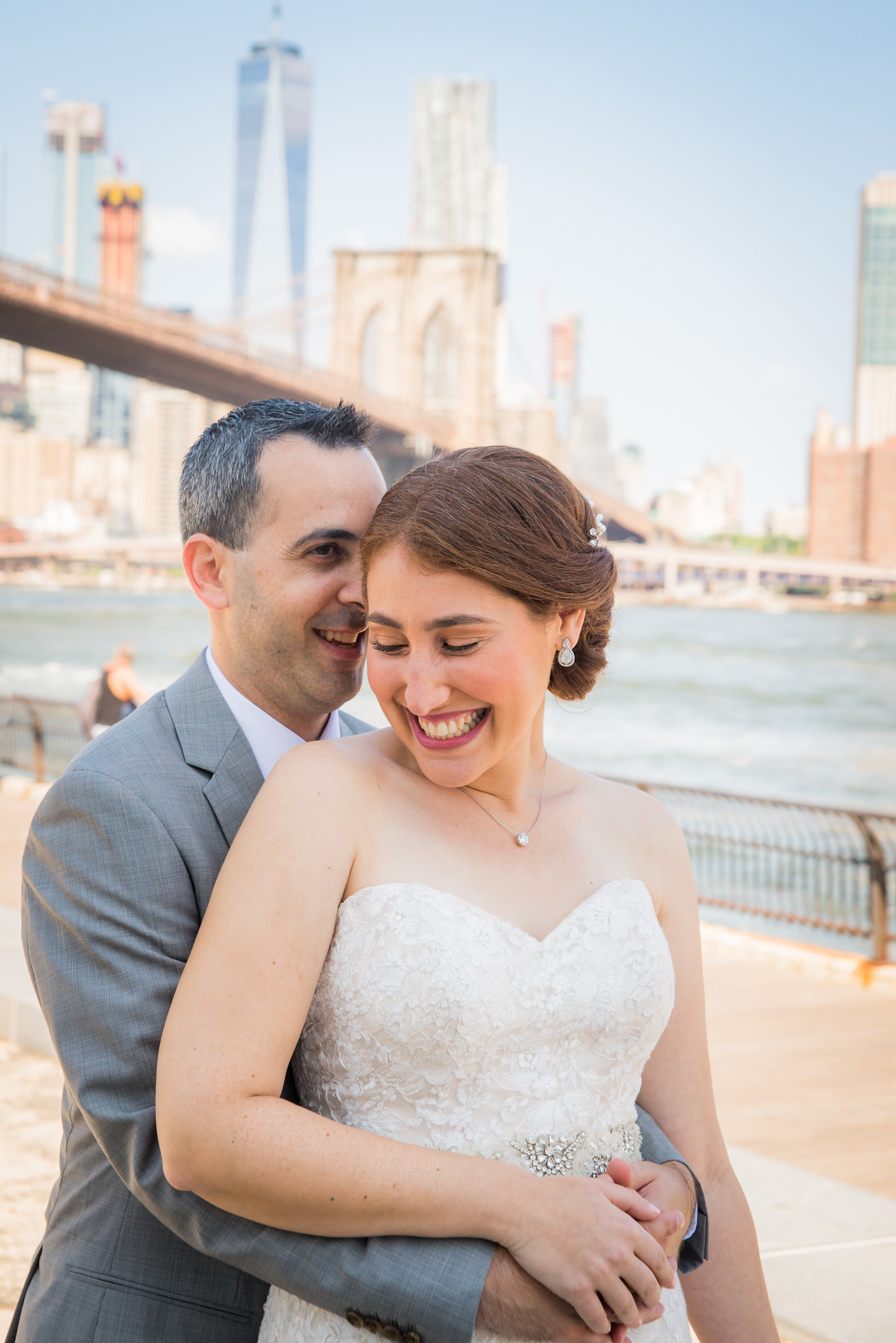 Allison & David Romantic Wedding in Dumbo & Chelsea Pears by Unveiled-Weddings.com #SunsetTerrace