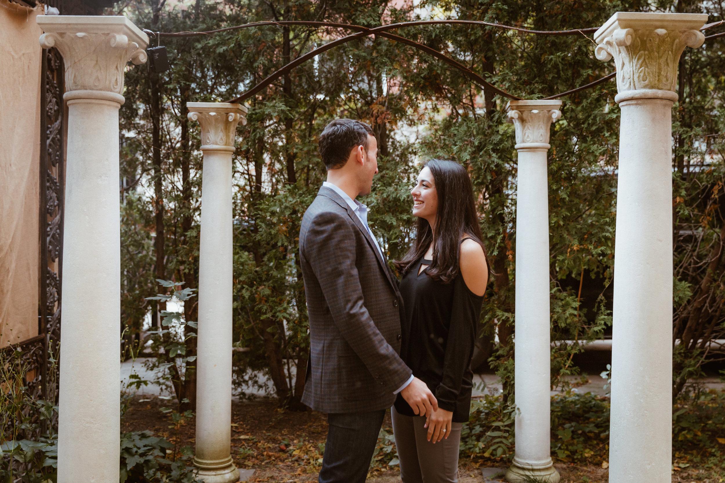 Proposal at Elizabeth Street Garden in New York by Unveiled-Weddings.com
