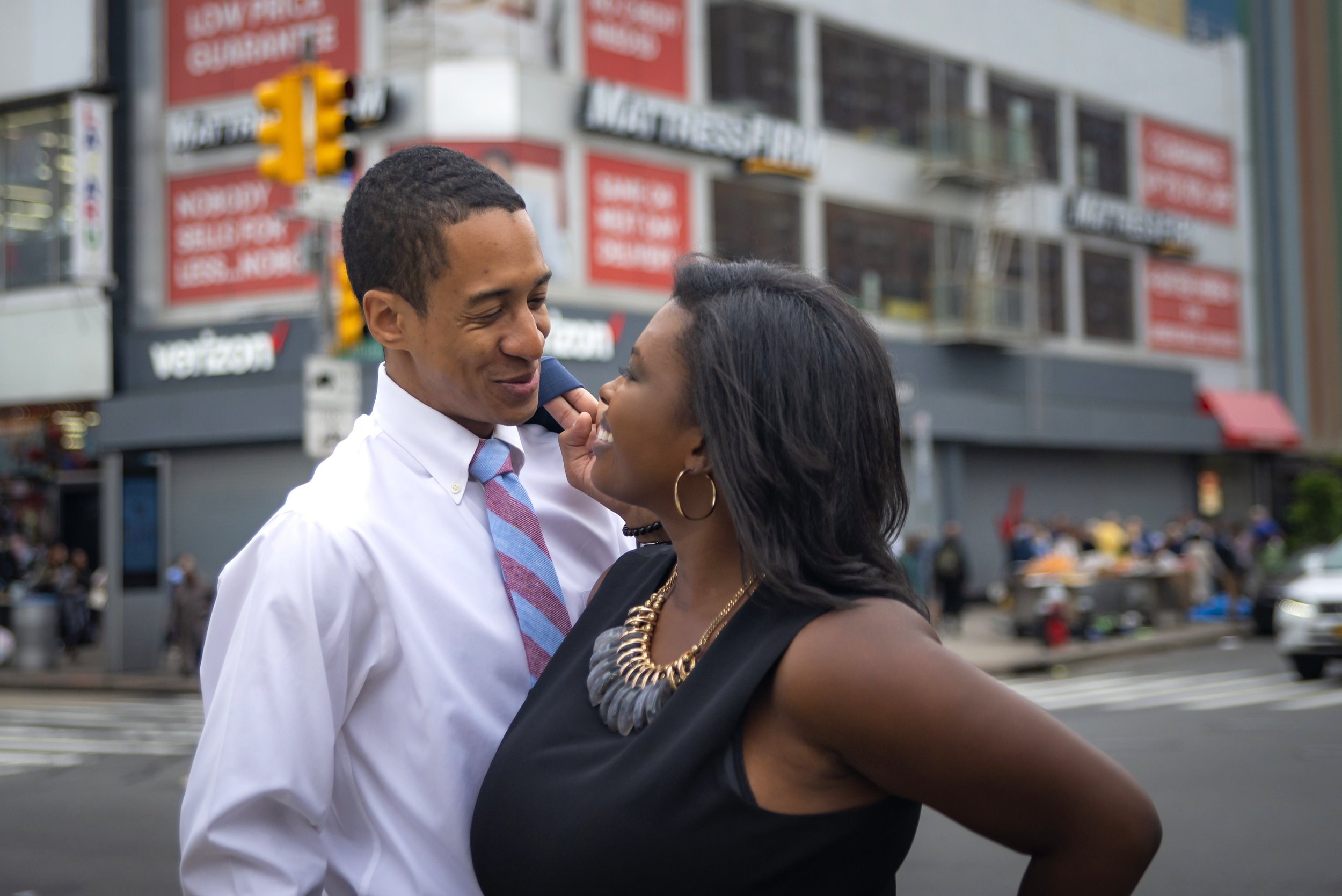 Joi & Stephen engagement session in Harlem by Unveiled-Weddings.com