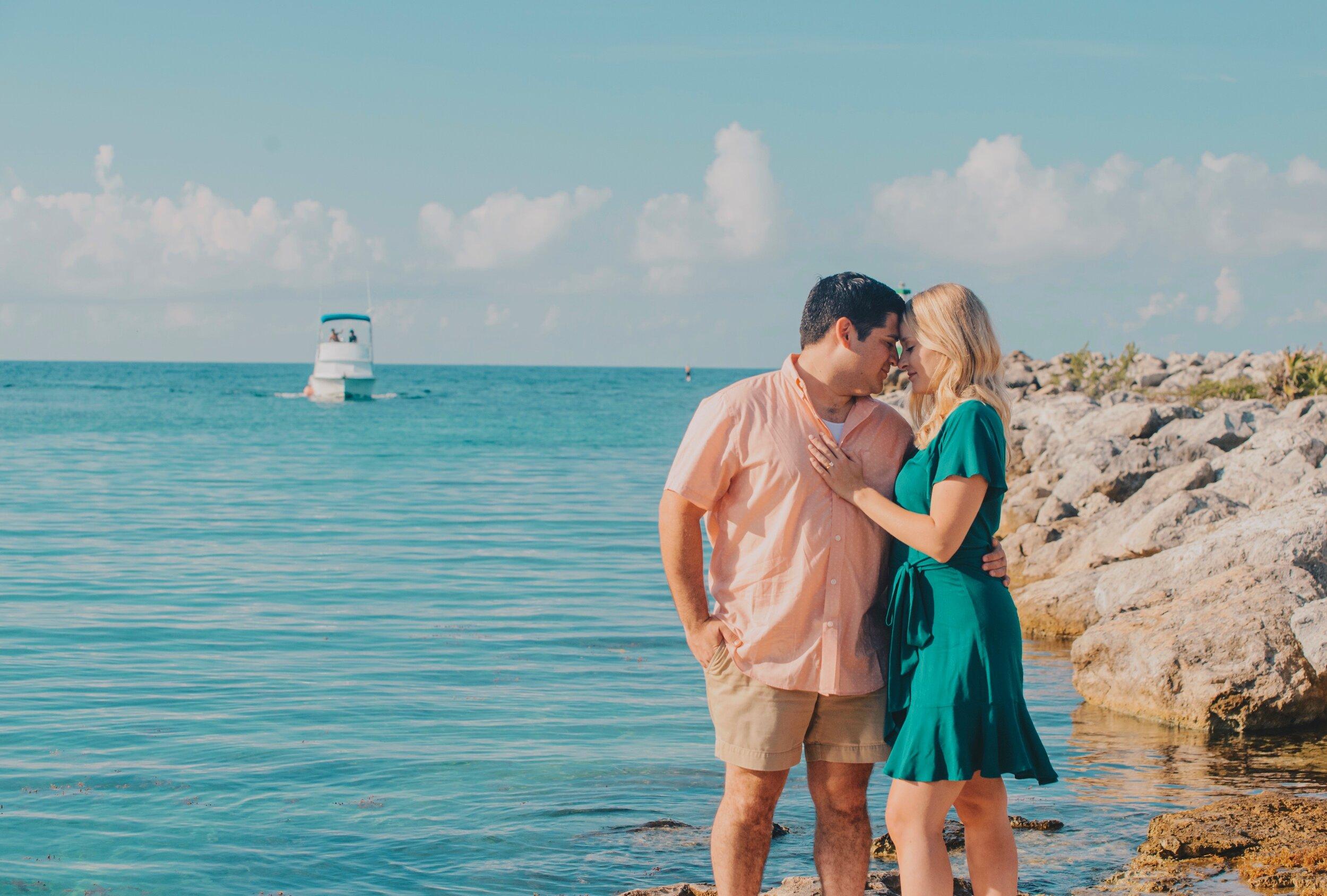 Amelia & William: Destination Engagement Session in Puerto Aventuras, Riviera Maya, Mexico by Unveiled-Weddings.com