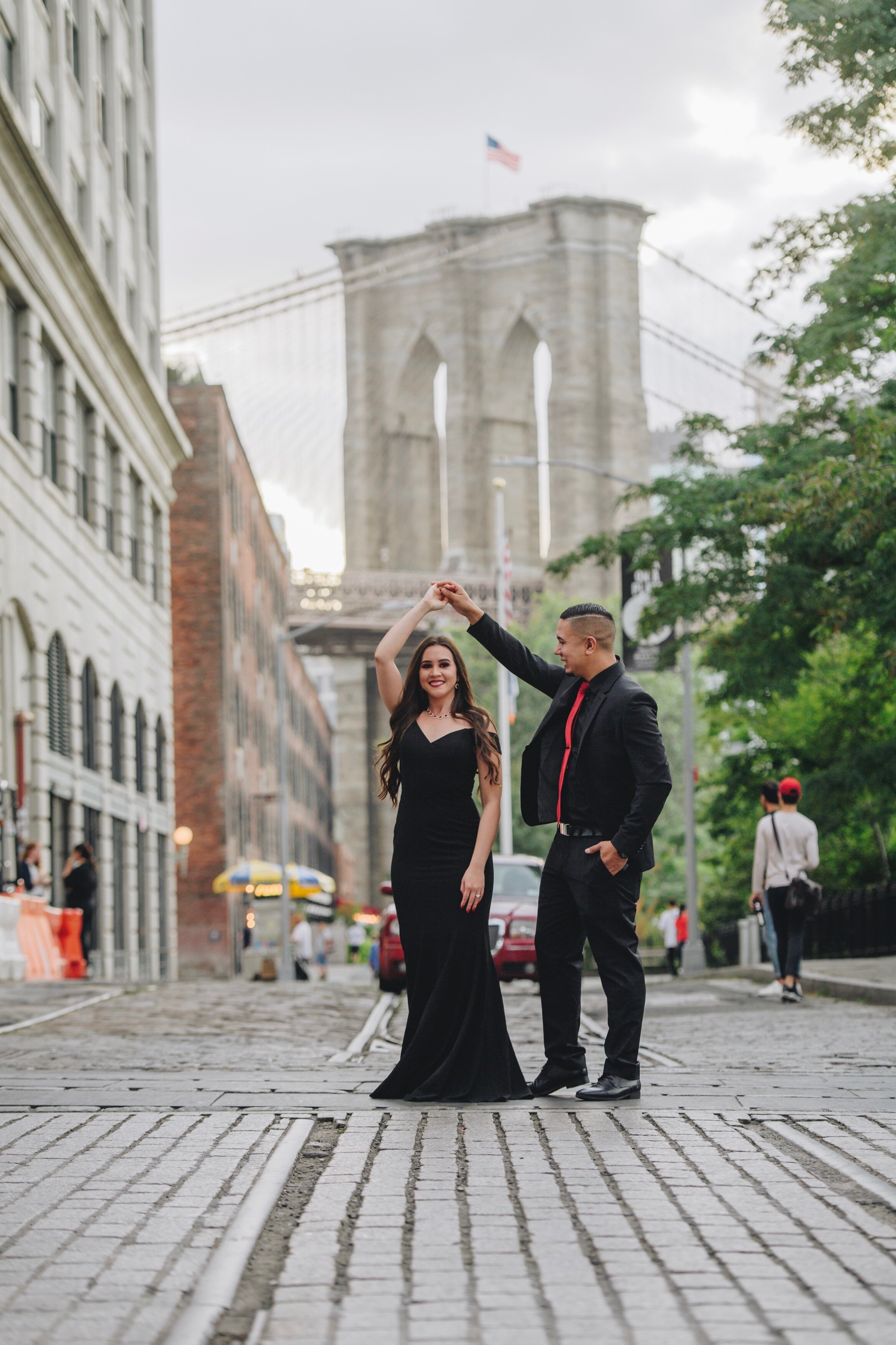 Jennifer & Marvin Engagement Session in NYC by Unveiled-Weddings.com