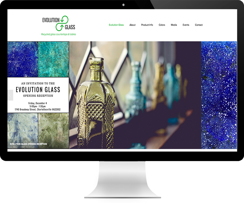 Website Design for Evolution Glass by Brightworks Studio