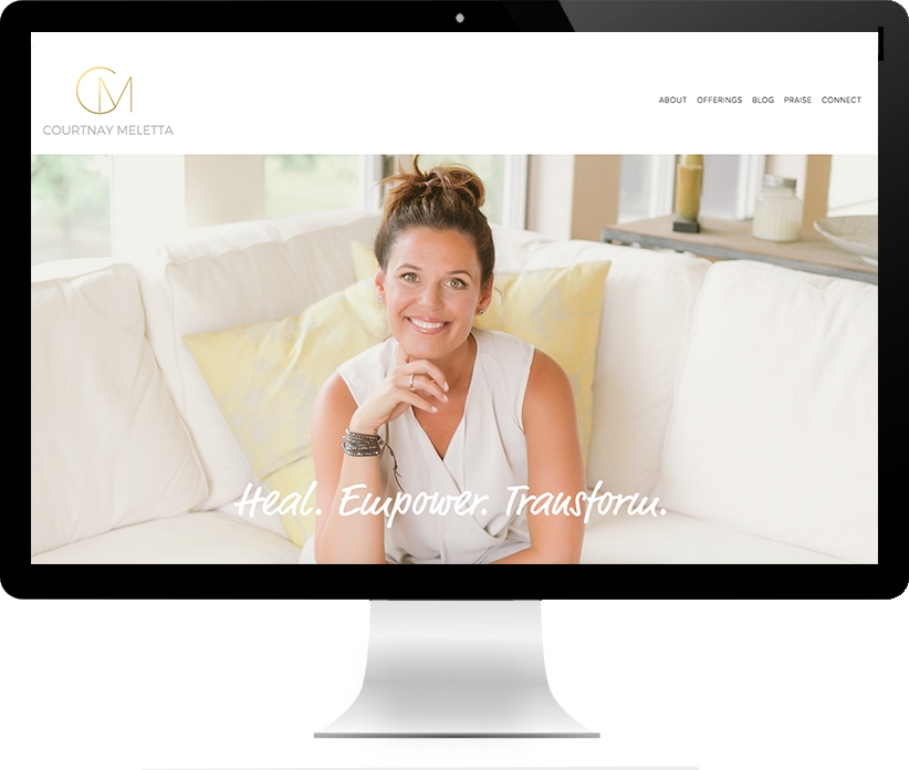 Website design for Courtnay Meletta by Brightworks Studio