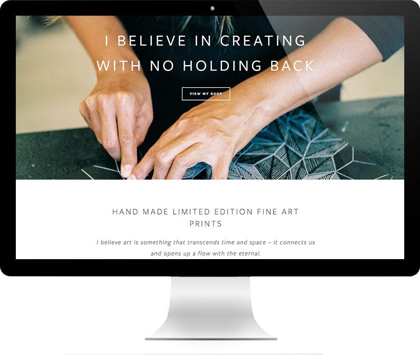 Website design for Anna Curtius by Brightworks Studio