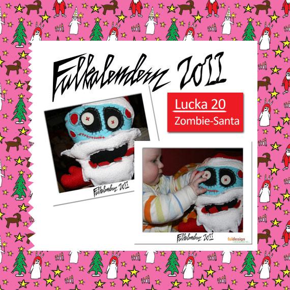 Lucka 20 Zombie santa