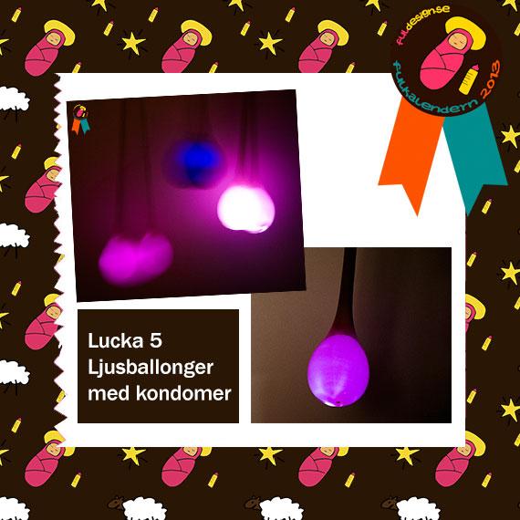 Lucka 5 Ljusballonger med kondomer