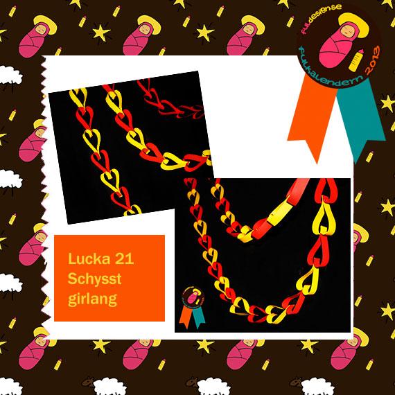 Lucka 21 Schysst Girlang