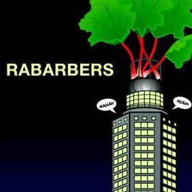 Affisch för Teaterverkets uppsättning av Rabarbers på Aliasteatern