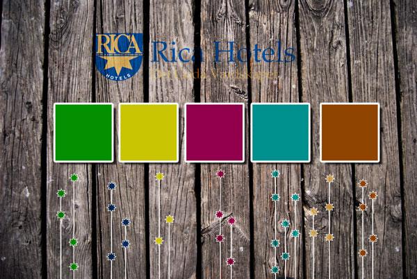 Rica ville ha en ny knallig färgpalett.