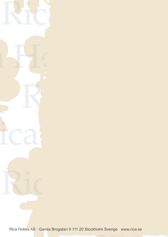 Brevpapper för Rica hotels
