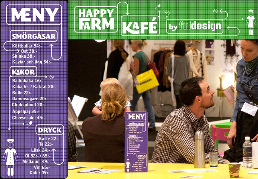 Happyfarm Kaféskyltar Älvsjömässan