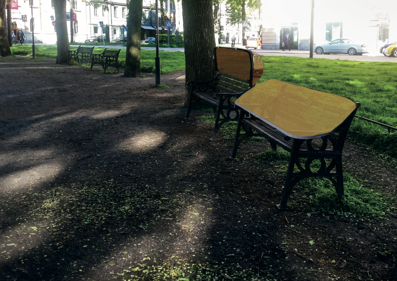 weathercoverparkbench