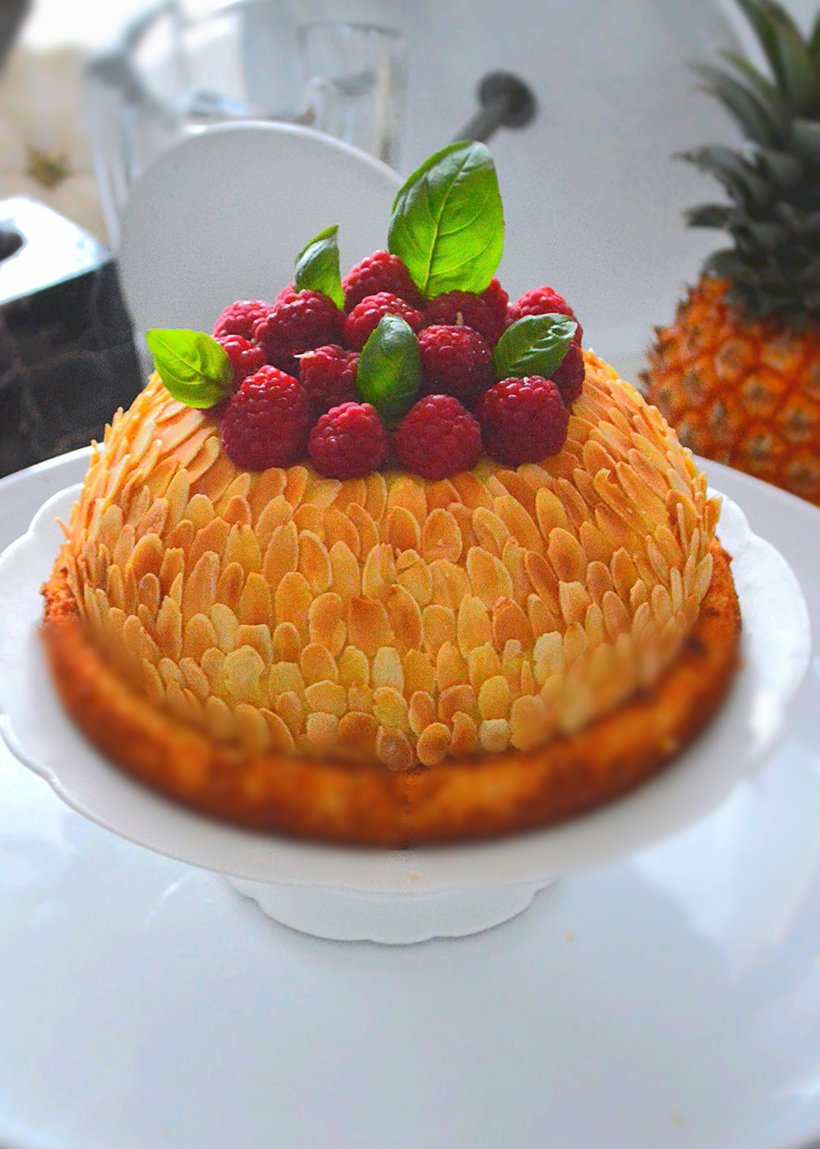 Lotus d'ananas façon bourdaloue
