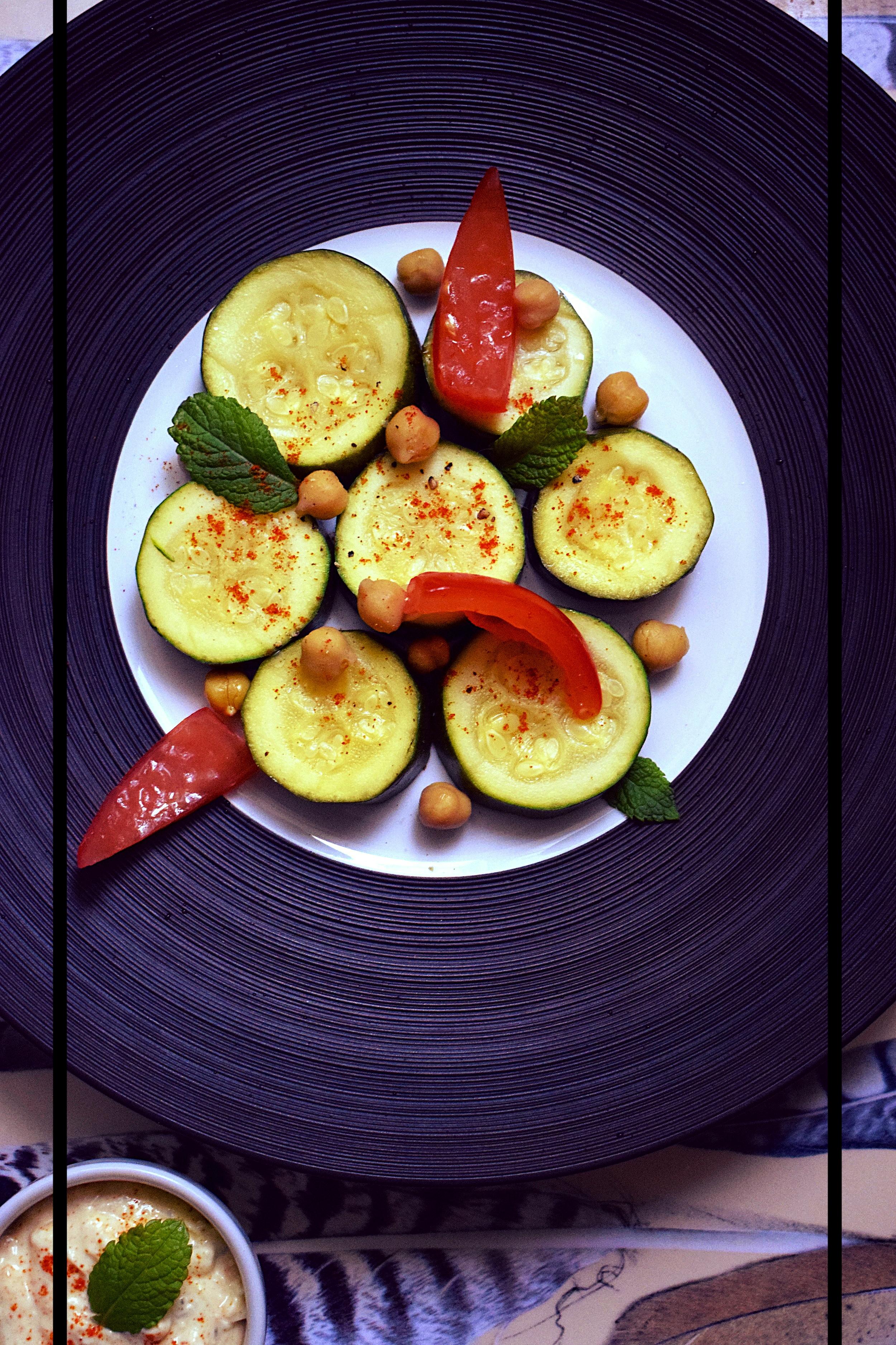 salade de courgettes feta menthe