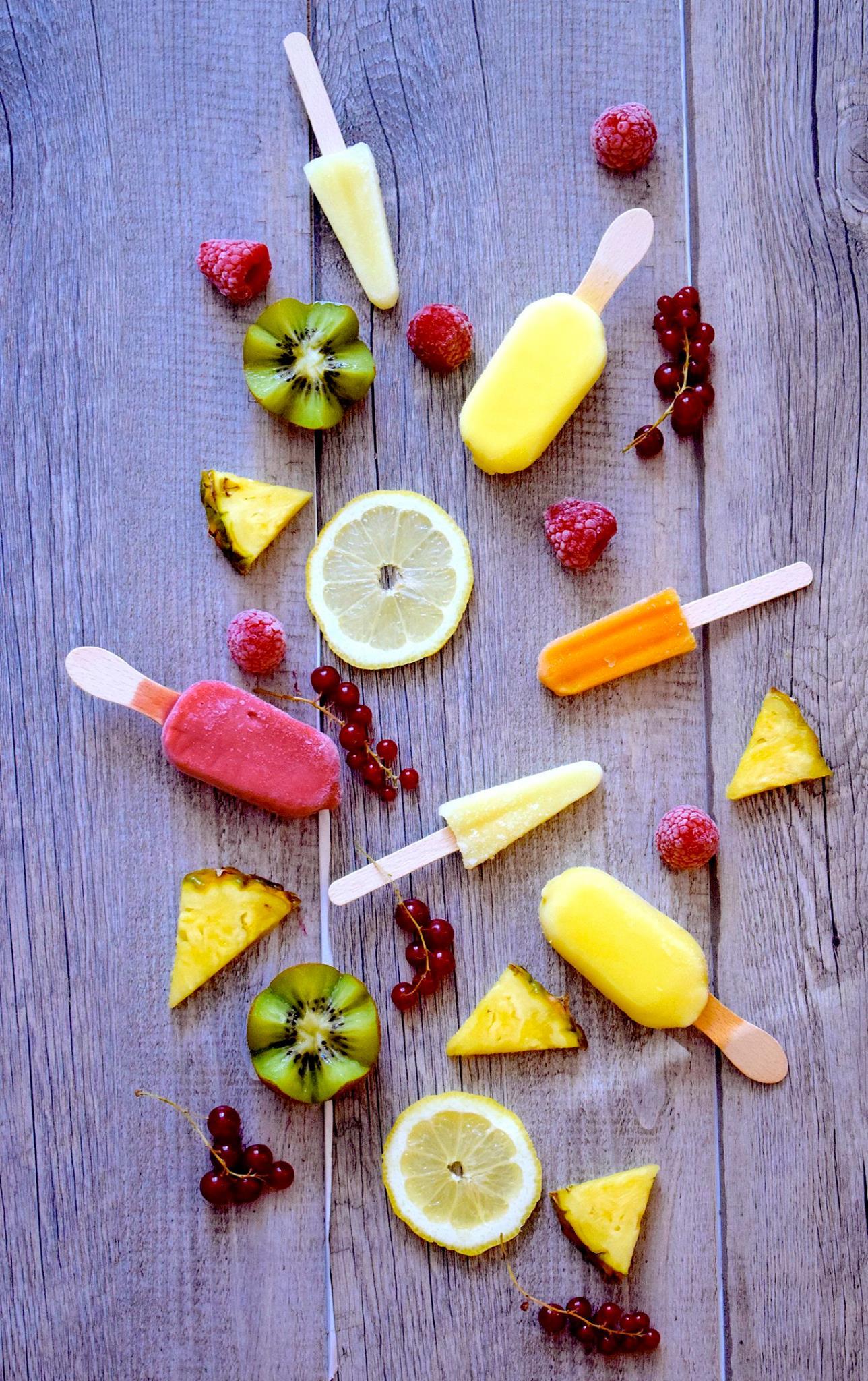 sorbet et glaces aux fruits