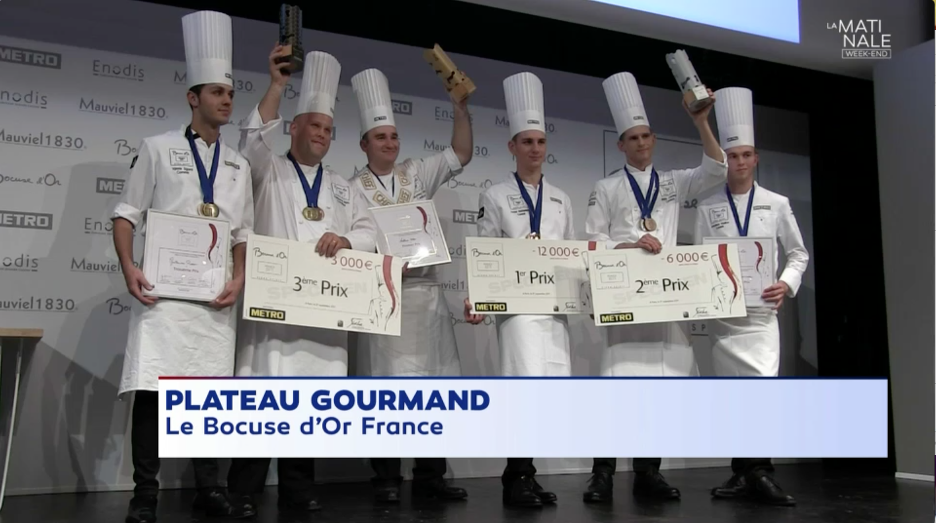 Podium bocuse d'or Cyril Rouquet-Prévost