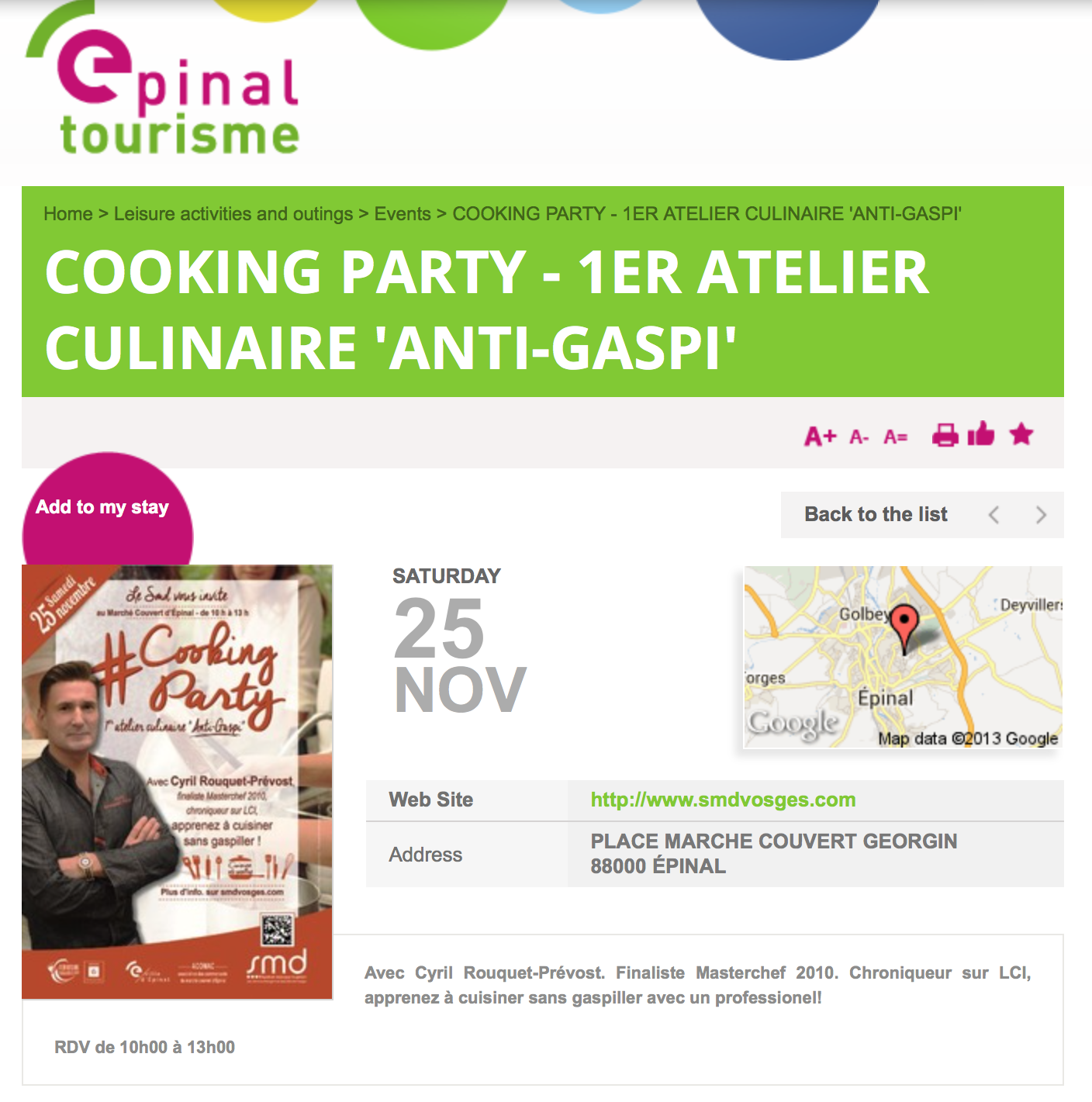 Cyril Rouquet-Prévost Cooking Party AntiGaspi