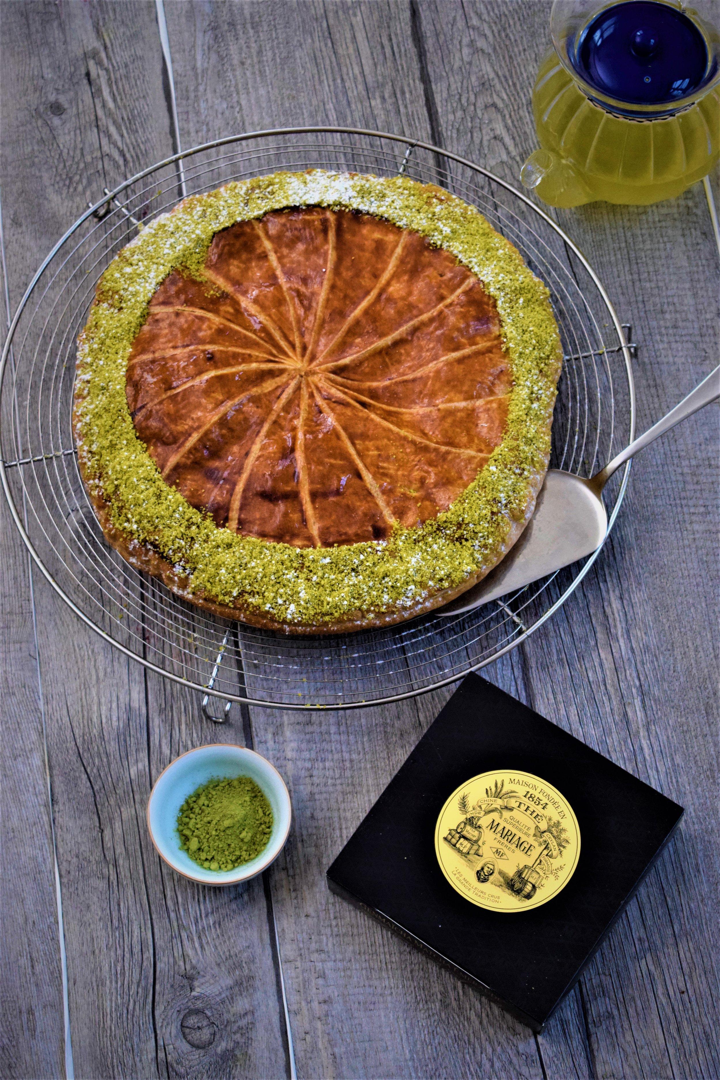 galette thé Matcha Cyril Rouquet-Prévost