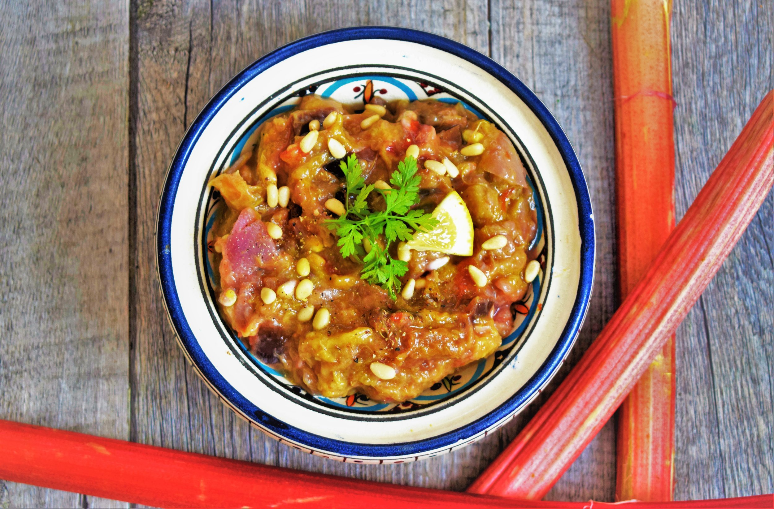 Curry rhubarbe Cyril Roquuet prévost