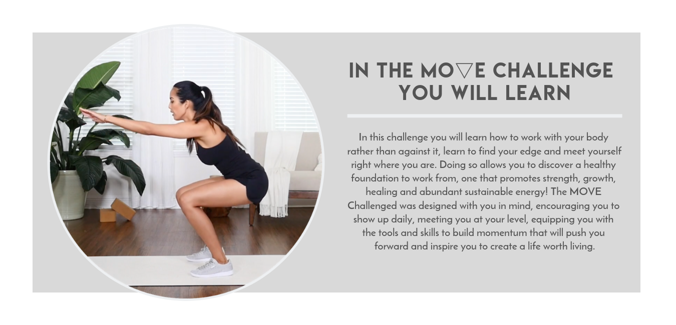 In this challenge you will learn how to work with your body rather than against it, learn to find your edge and meet yourself right where you are. Doing so allows you to discover a healthy foundation to work from, on.png