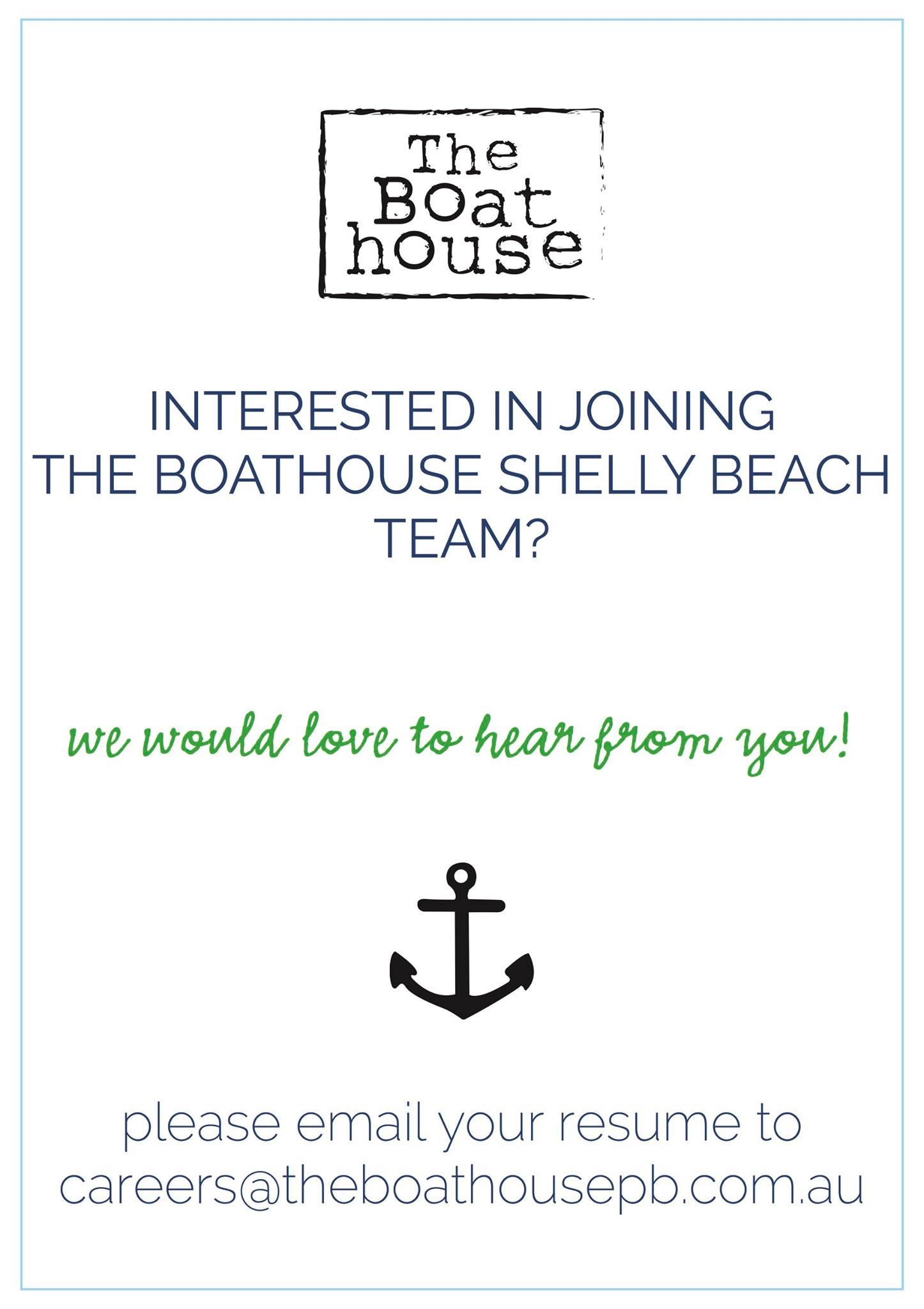 the boathouse shelly beach jobs