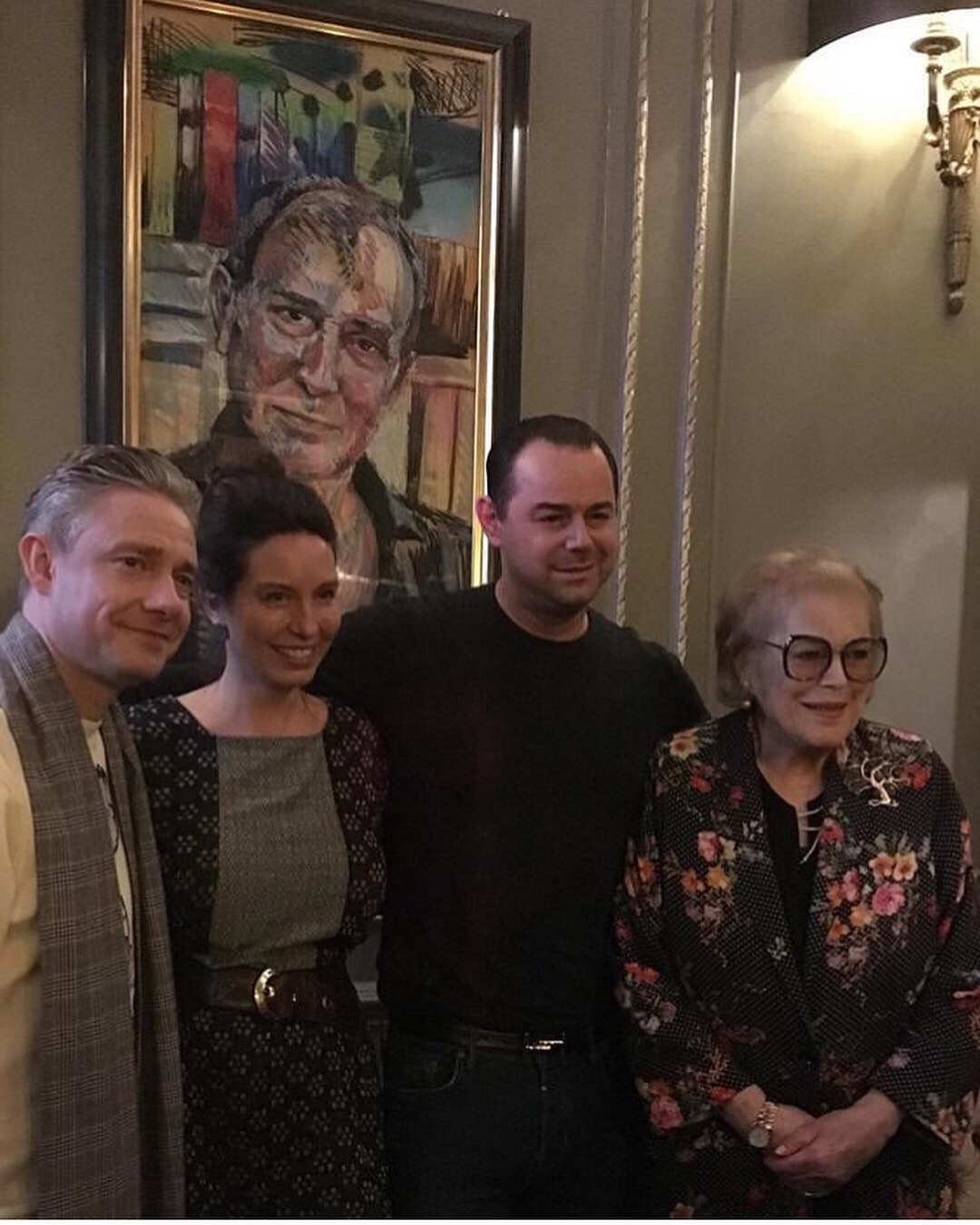 Martin Freeman, Amy Shuckburgh, Danny Dyer and Lady Antonia Fraser
