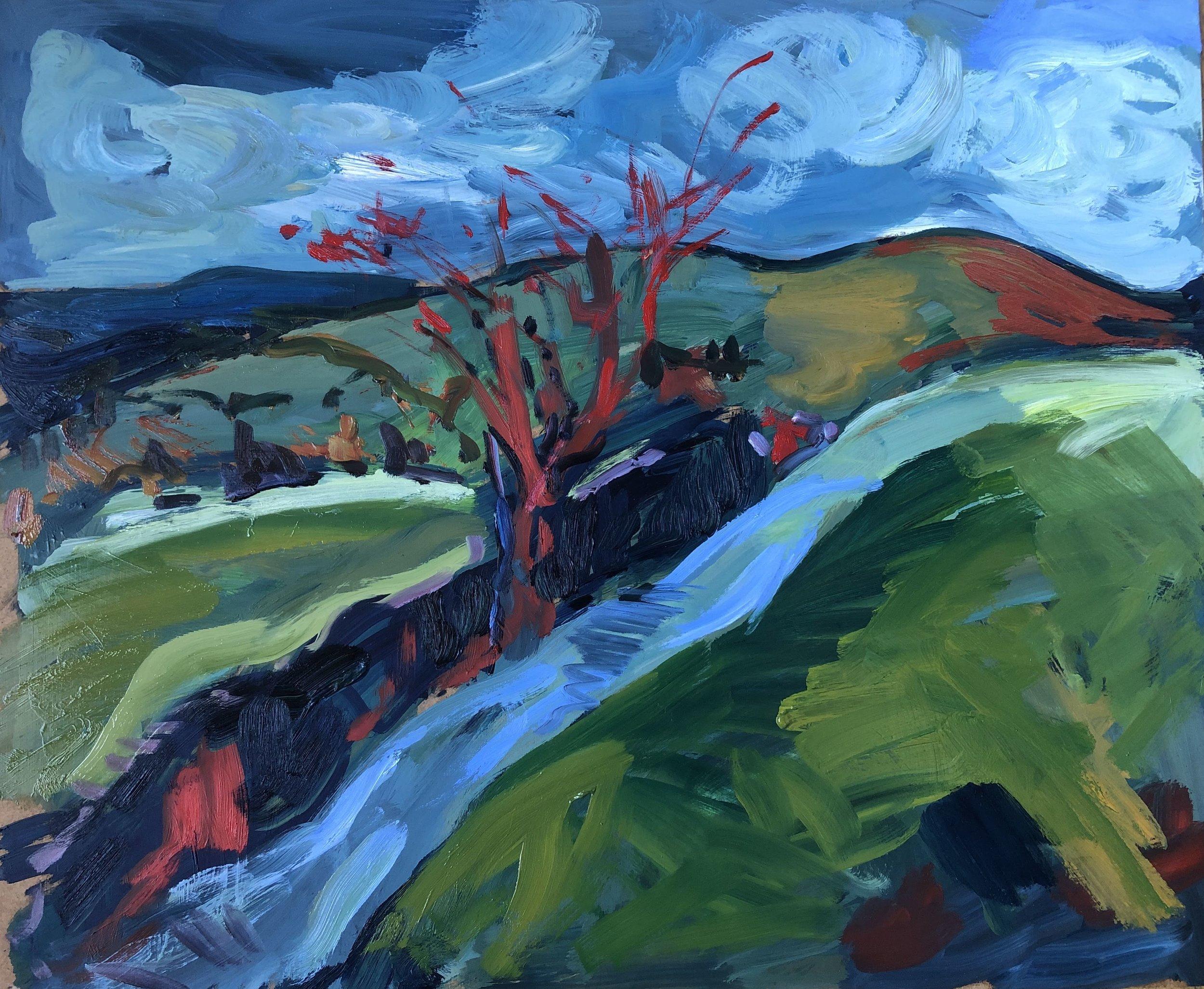 Red tree - up towards the Beacon.jpg