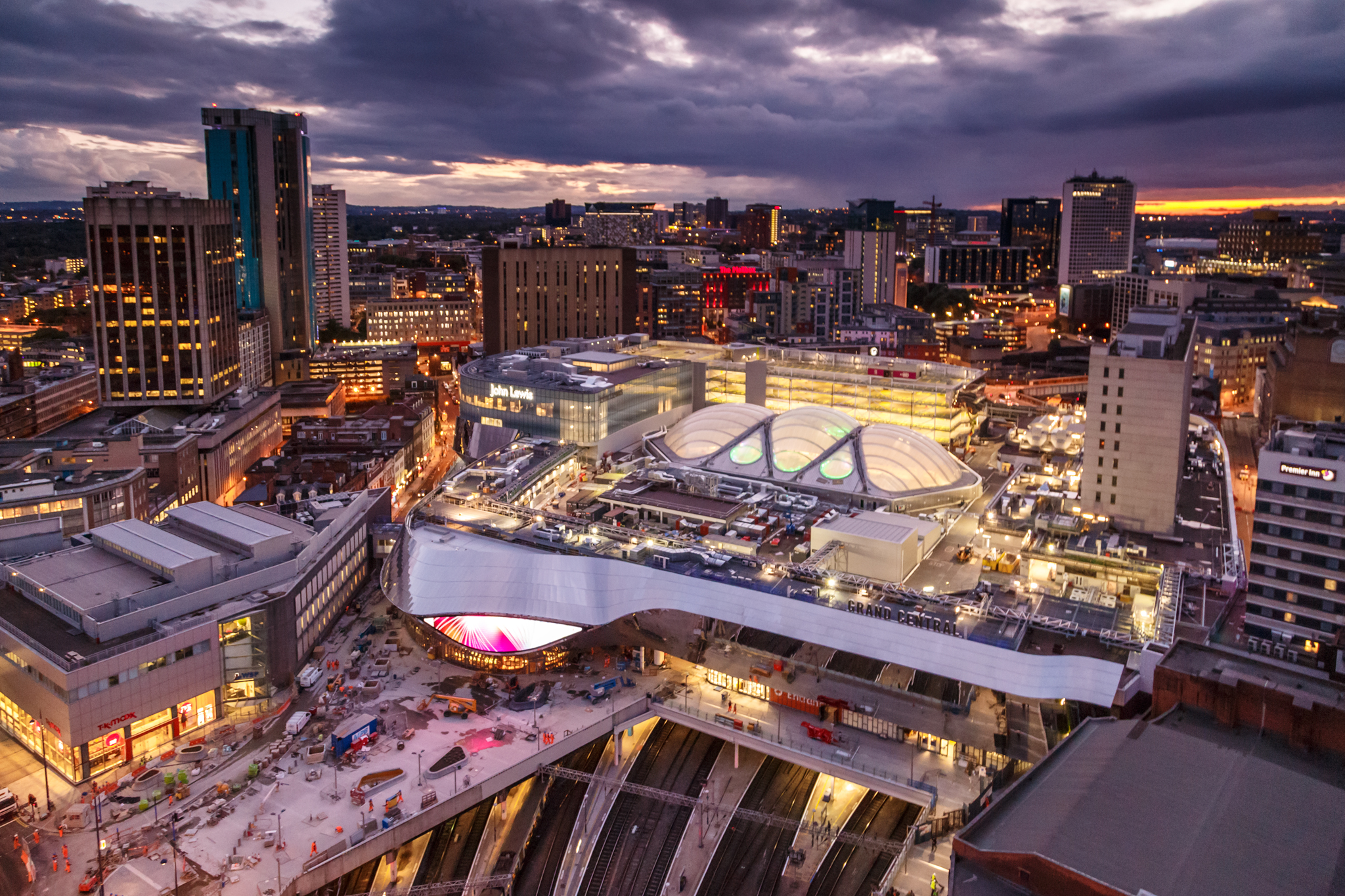 New Birmingham New Street Station as viewed from above - by Ross Jukes Photography
