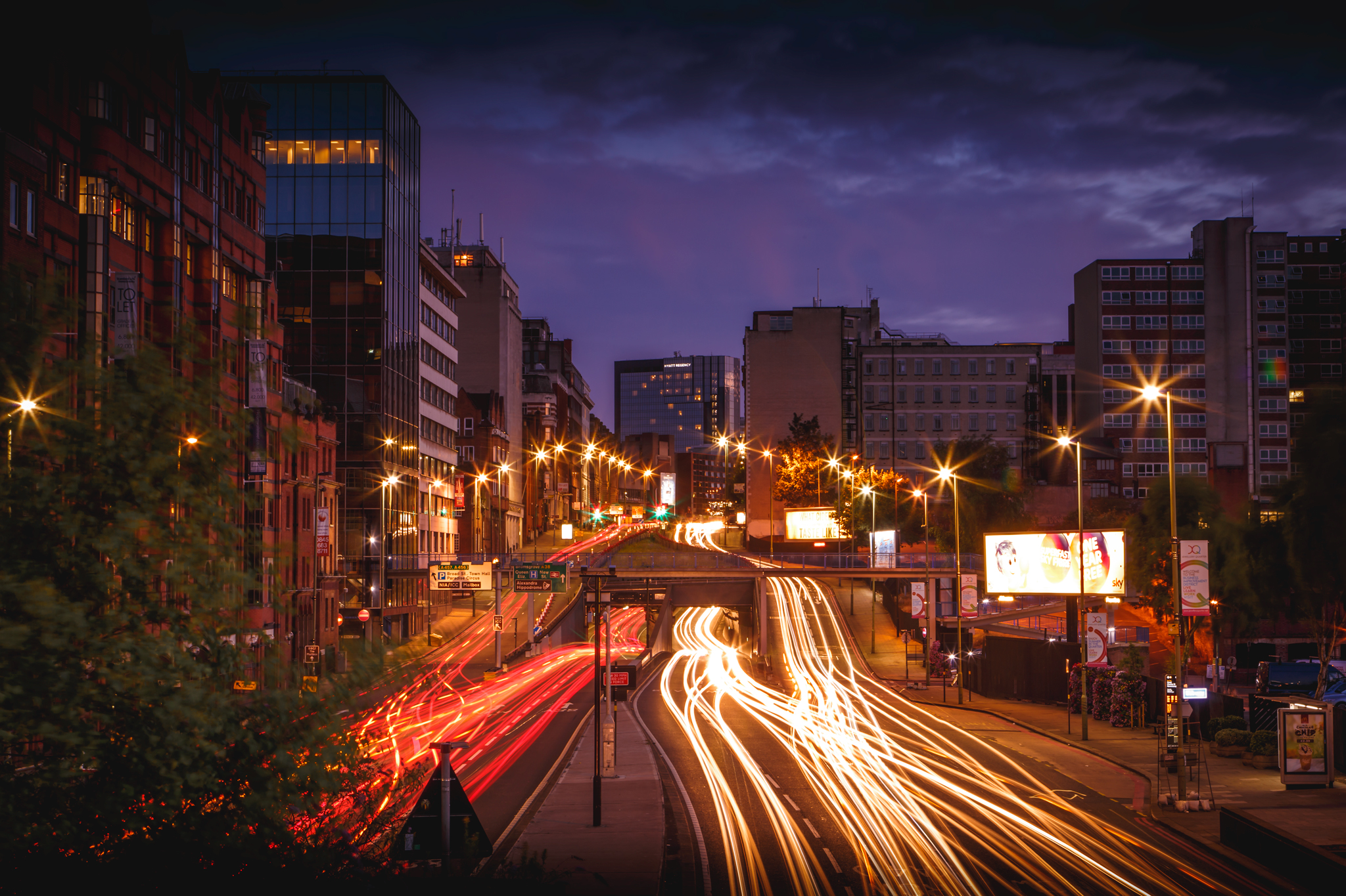 Long exposure from snow hill station Birmingham