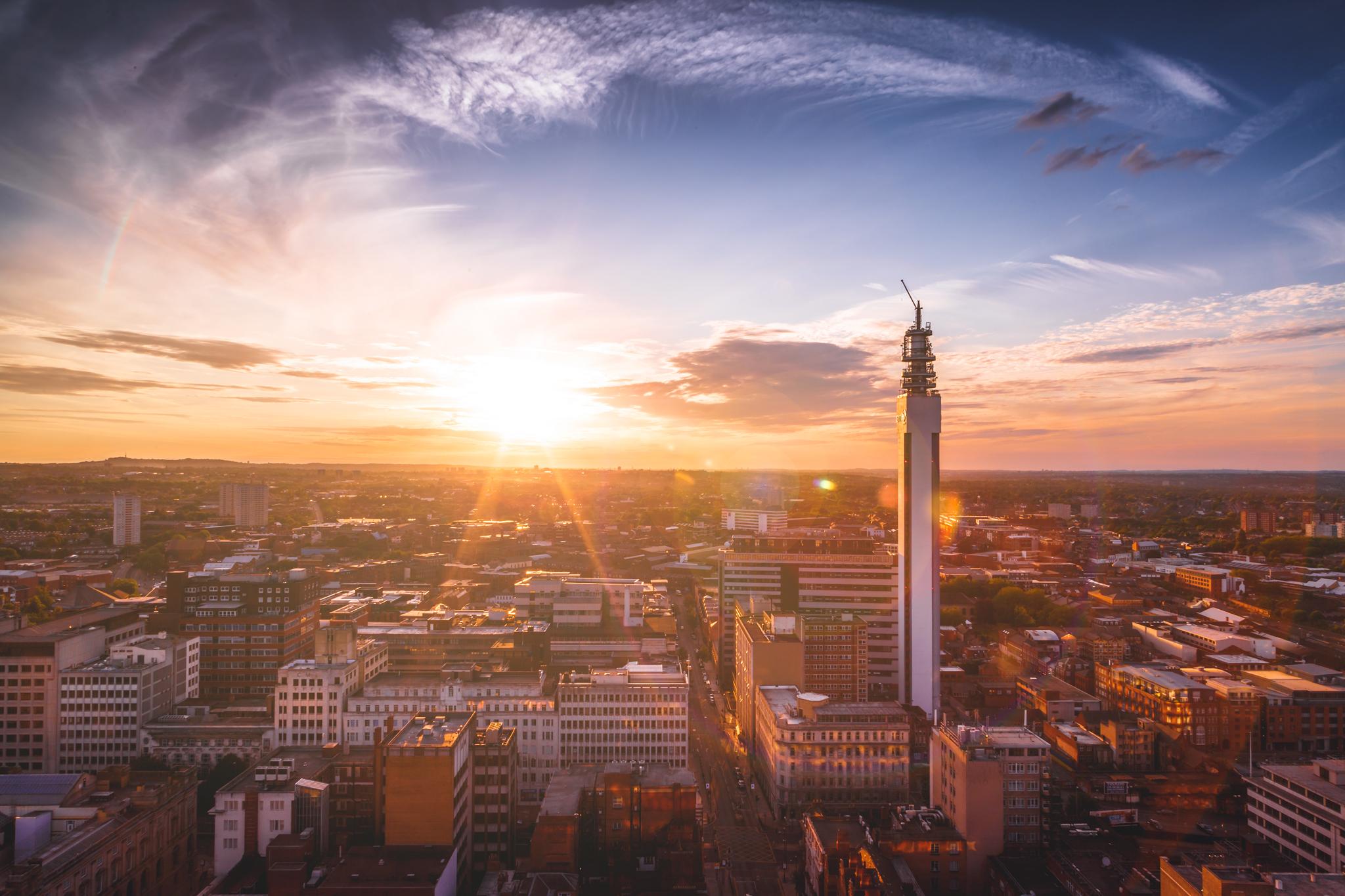 Sun sets on Birmingham