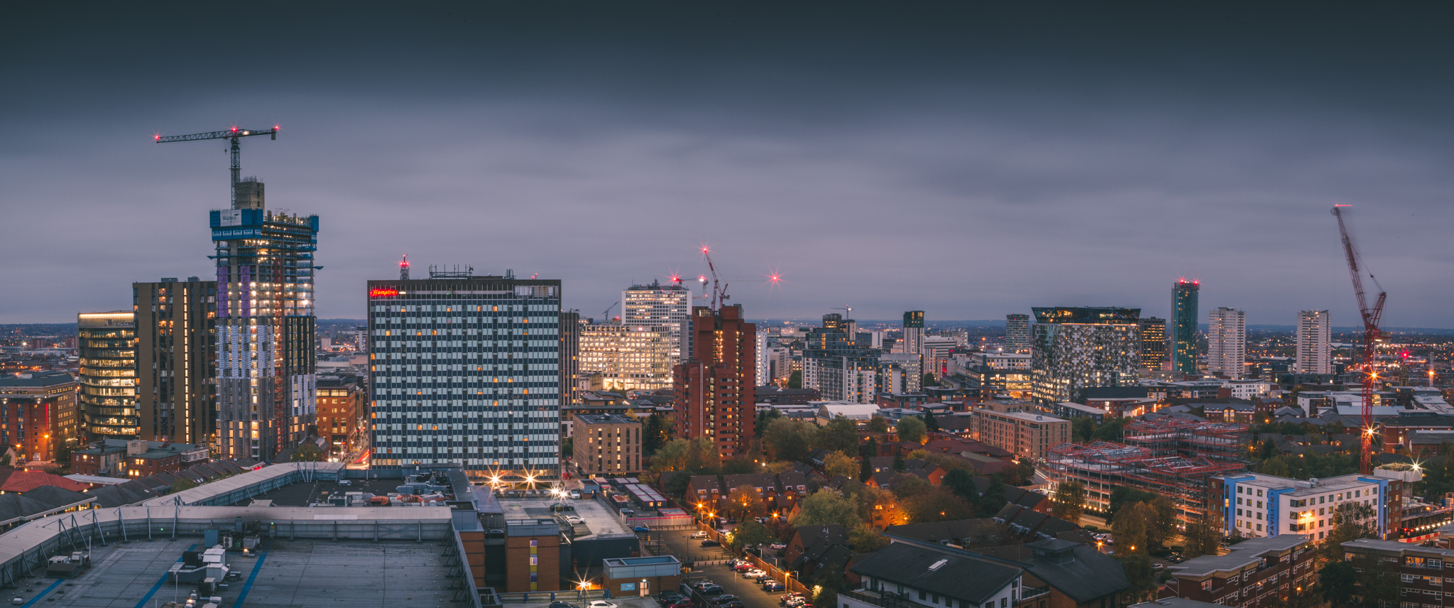 New developments as viewed from the roof of Park Regis, Birmingham