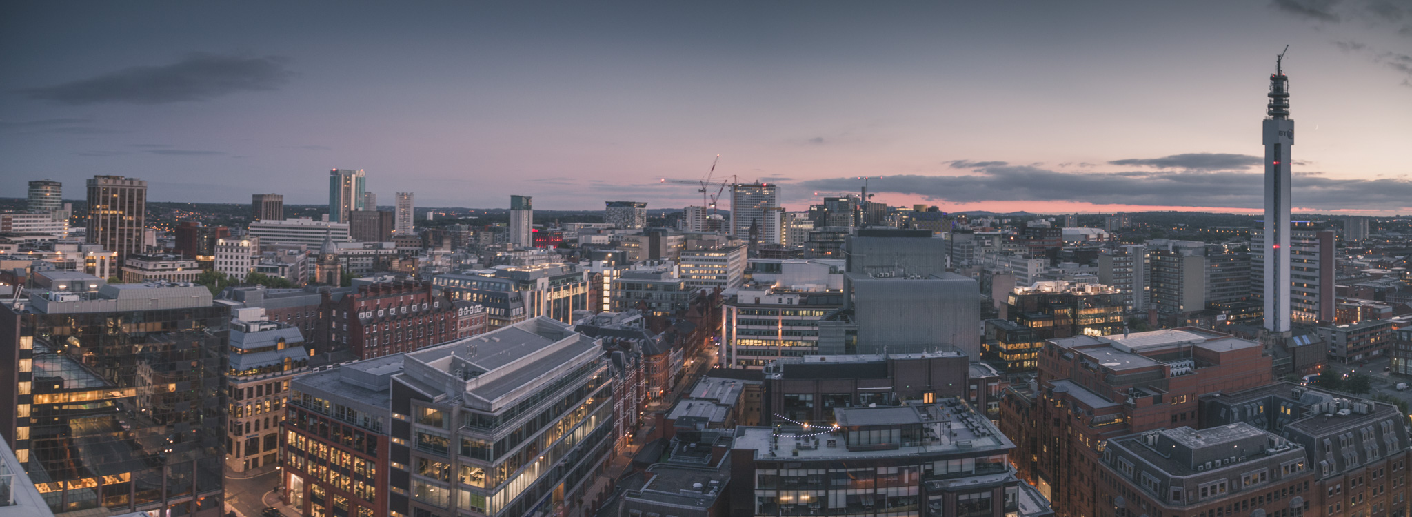 The view from the top floor of the new Three Snowhill development