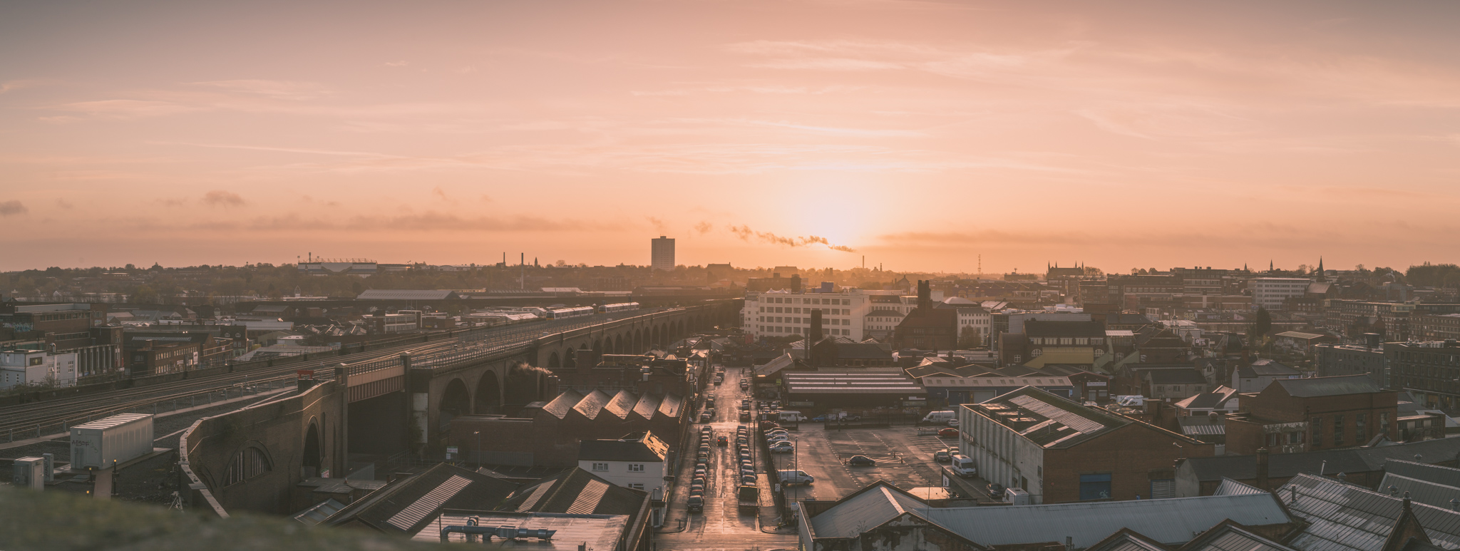 The view over Digbeth from Selfridges car park