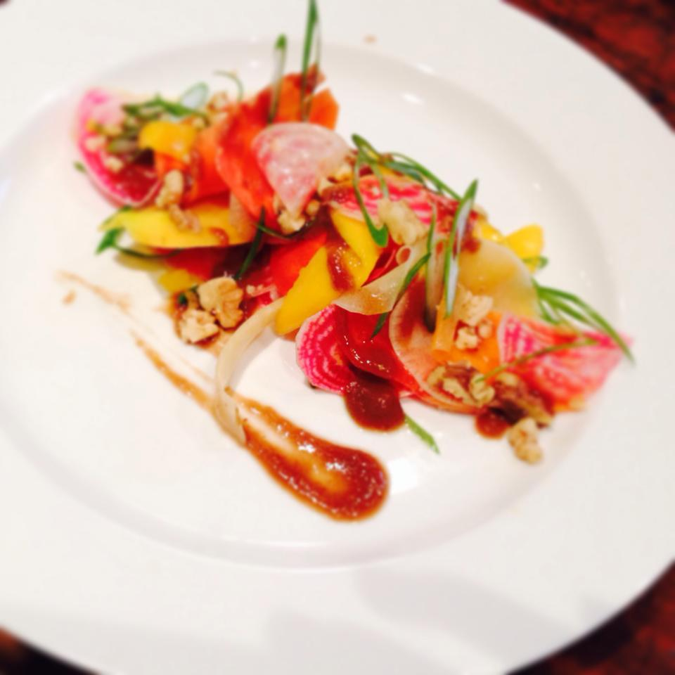 Shaved Seasonal Vegetables with Mango and Tamarind Lime Dressing