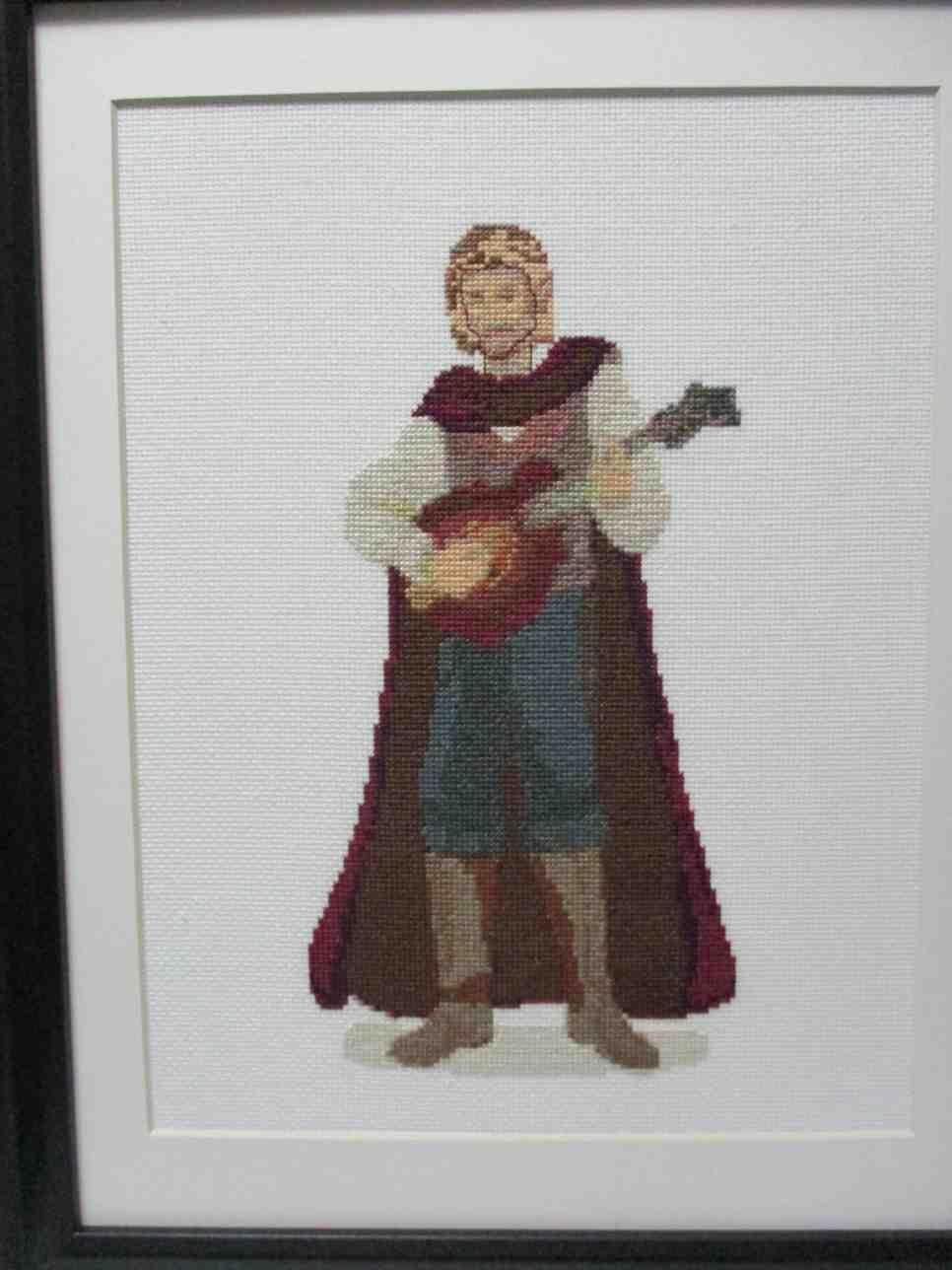 A wonderfully done cross-stitch of Erasmus by  darlene llewellyn-konecny , based on deanna laver's original design.