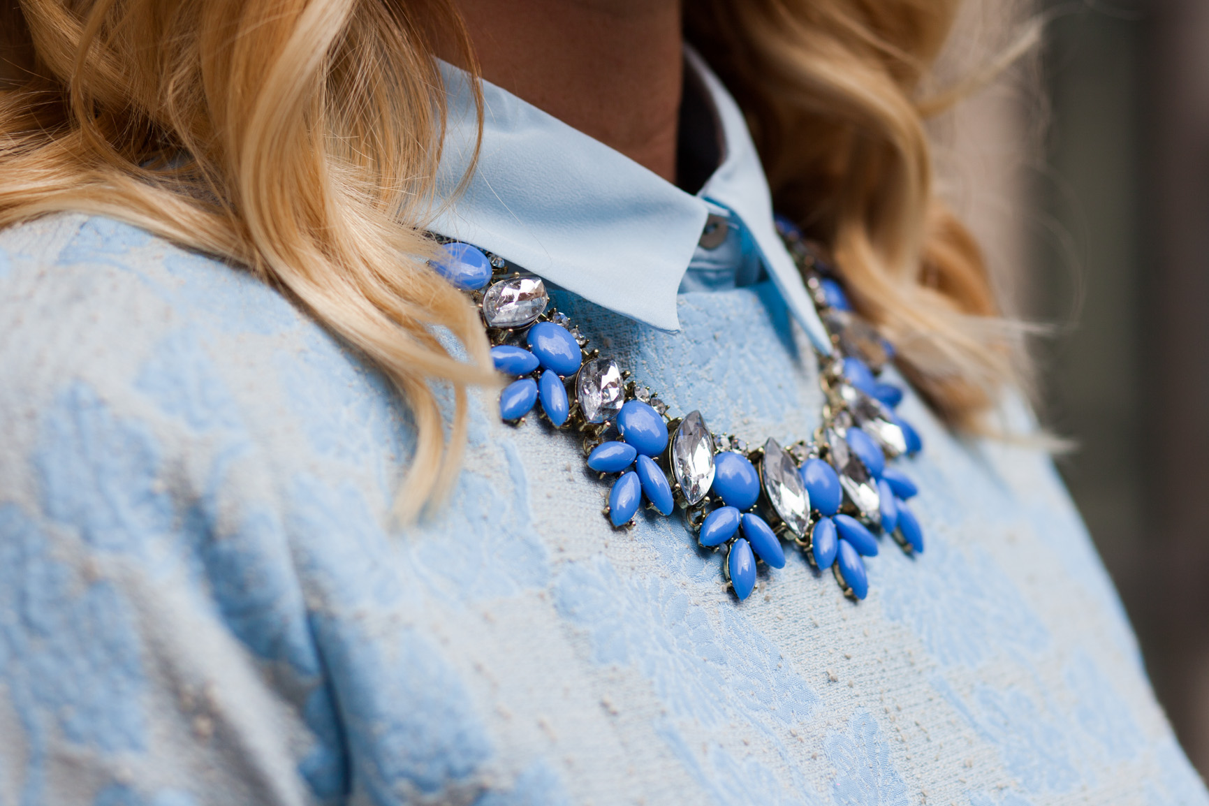 mademoiselle jules baby blue bettyray statement necklace